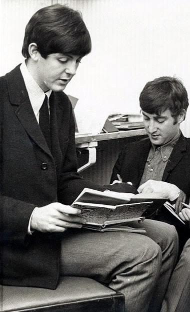 Paul McCartney and John Lennon reading