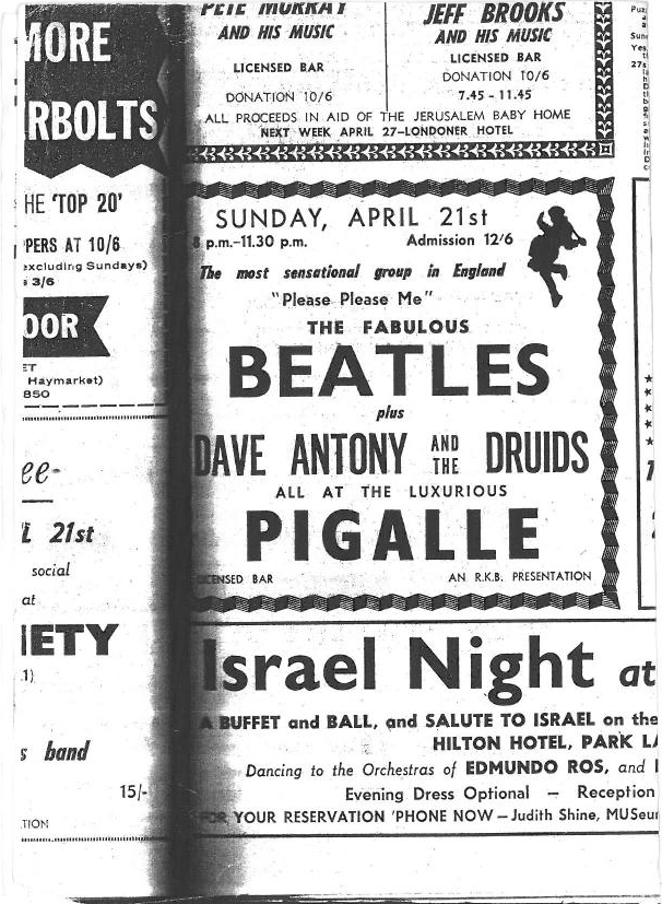 The Beatles at Pigalle
