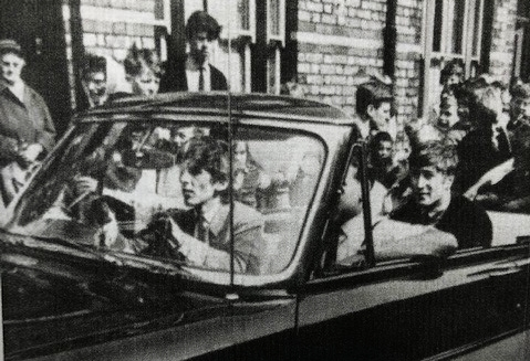The Beatles drive down Admiral Grove