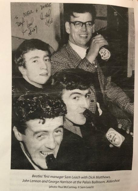 Sam Leach, George Harrison, John Lennon and Dick Matthews