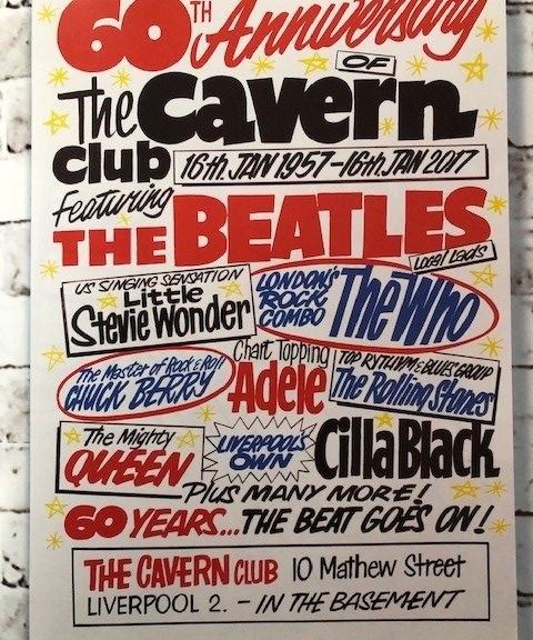 Poster for the 60th Anniversary of The Cavern Club