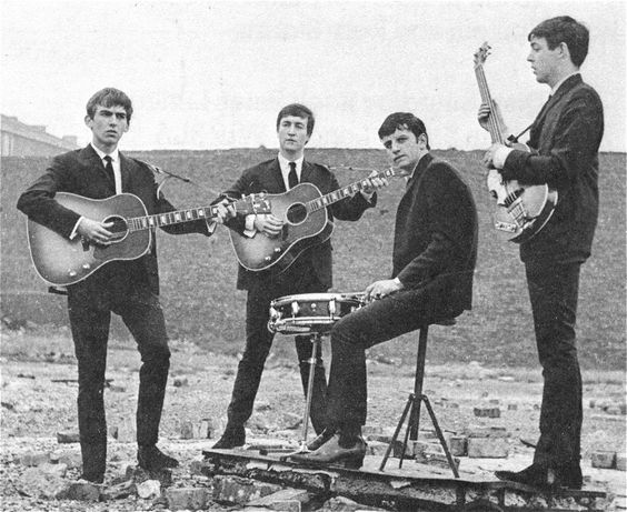 The Beatles photographed in Liverpool