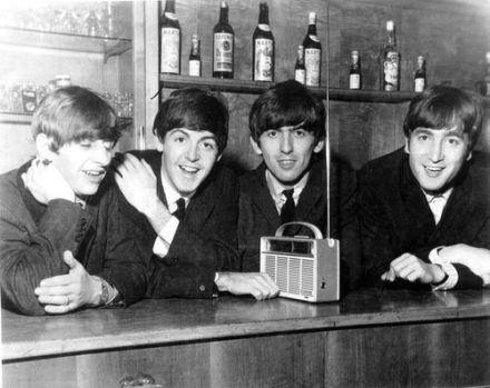 The Beatles Listening to the Radio