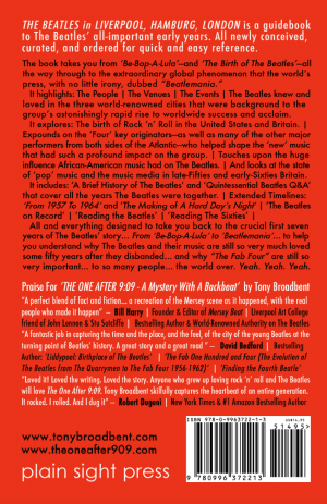 The Beatles in LIverpool Hamburg London back cover
