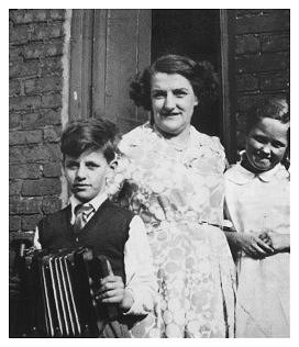 Young Ritchie with his mum, Elsie