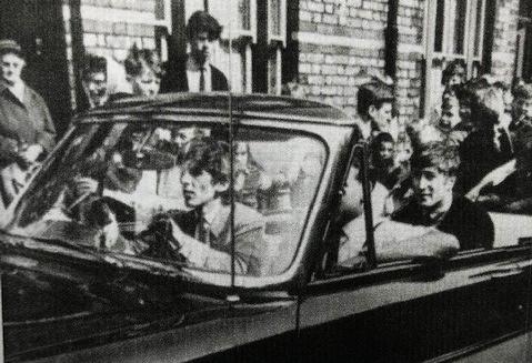 The Beatles drive down Admiral Grove