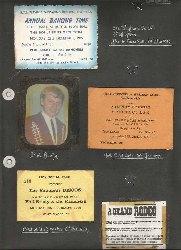 Memorabilia from Phil Brady's scrapbook