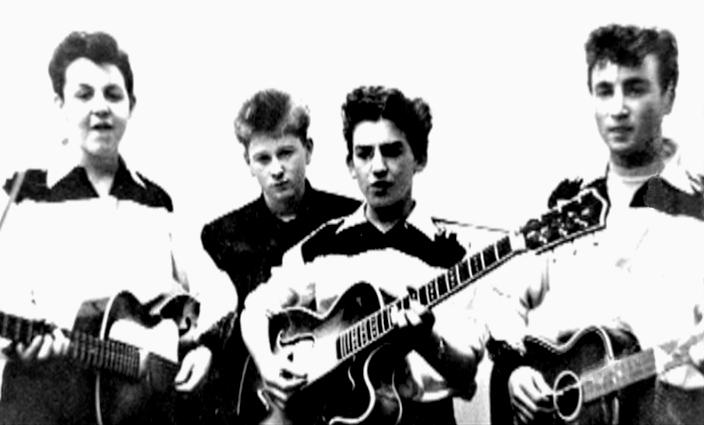 Paul McCartney, Arthur Kelly, George Harrison and John Lennon