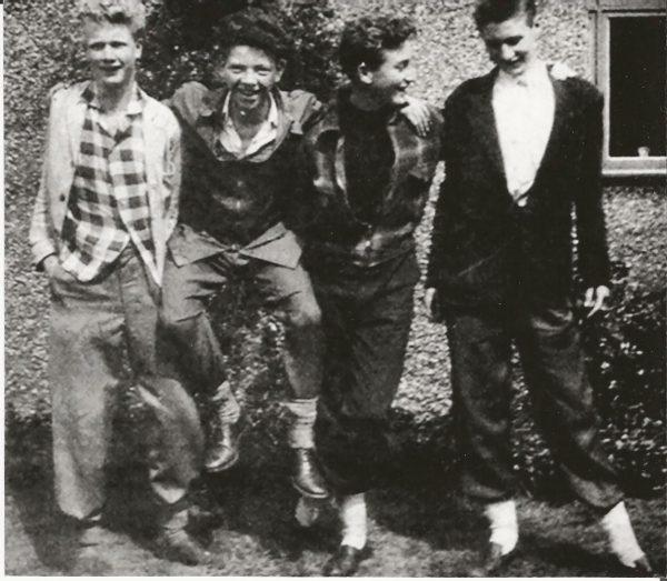 Pete Shotton, Billy Turner, John Lennon and Len Garry