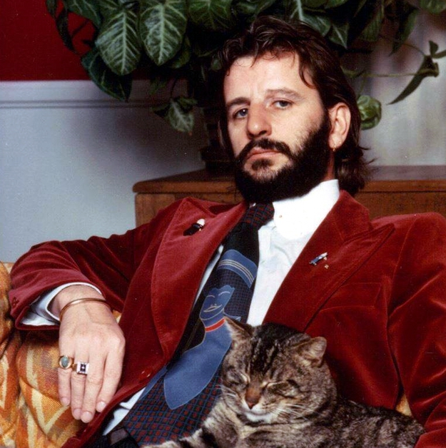 Ringo Starr relaxing at home