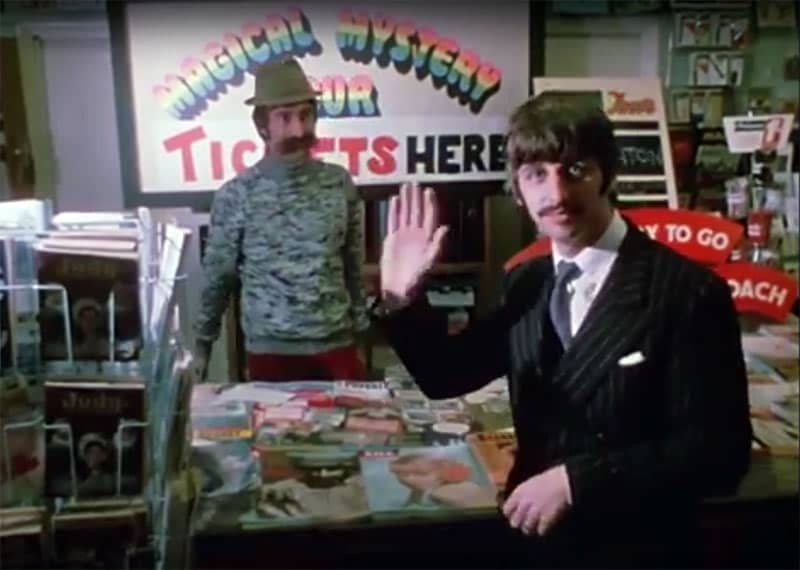 Ringo on the set of Magical Mystery Tour